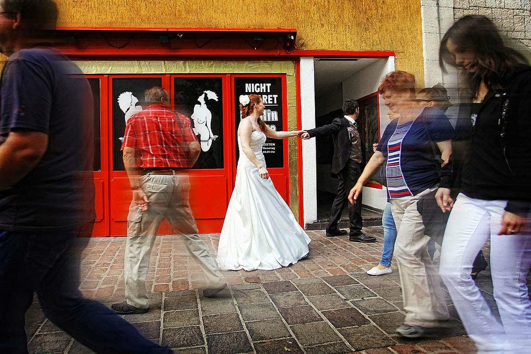 Beispiel: Kreative Hochzeitsfotos, Foto: Hochzeit Fotograf Thomas Hinder.