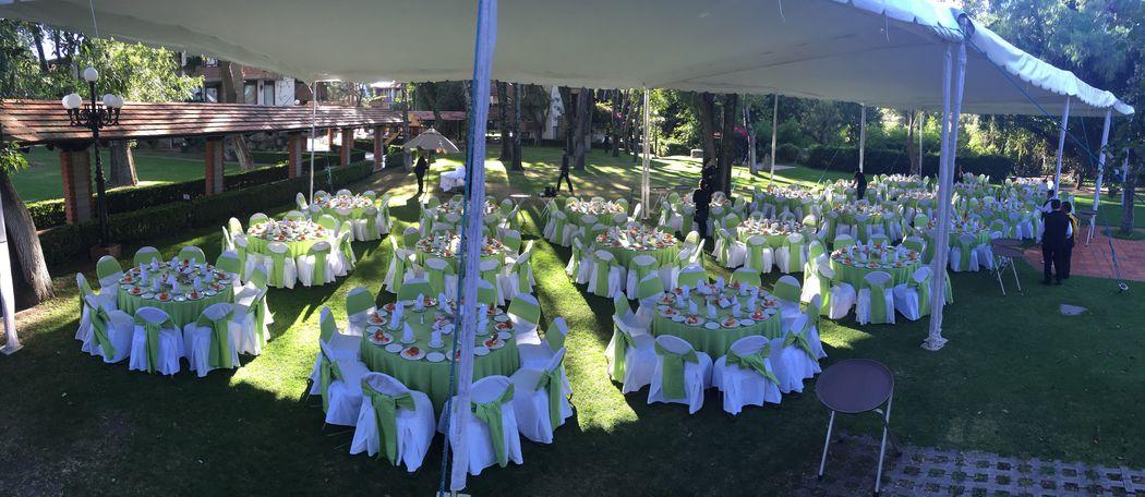 Jardín Carreta capacidad máxima en este jardín de 500 personas