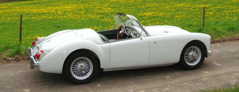 Beispiel: MG-A Mk1, Foto: Roadster Reise Träume.