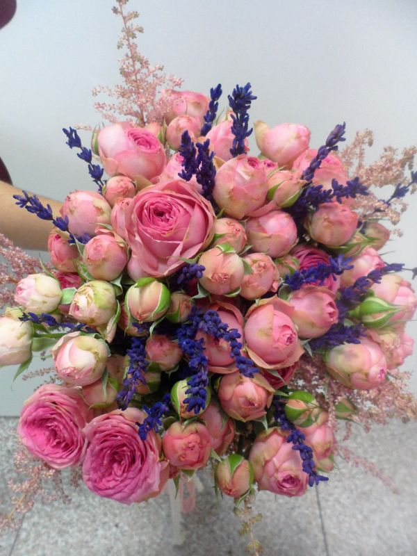 Bouquet variado con lavanda