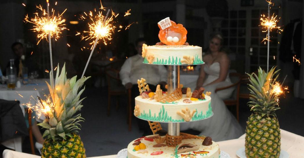 Beispiel: Hochzeitstorte, Foto: Löwenkrone.