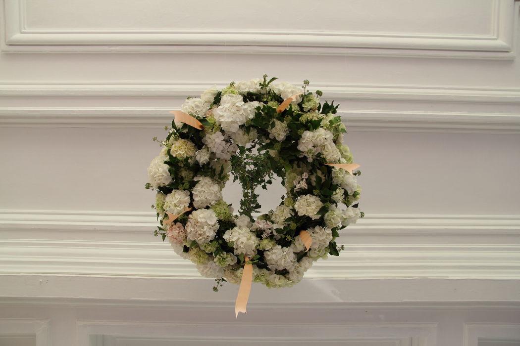 couronne hortensias