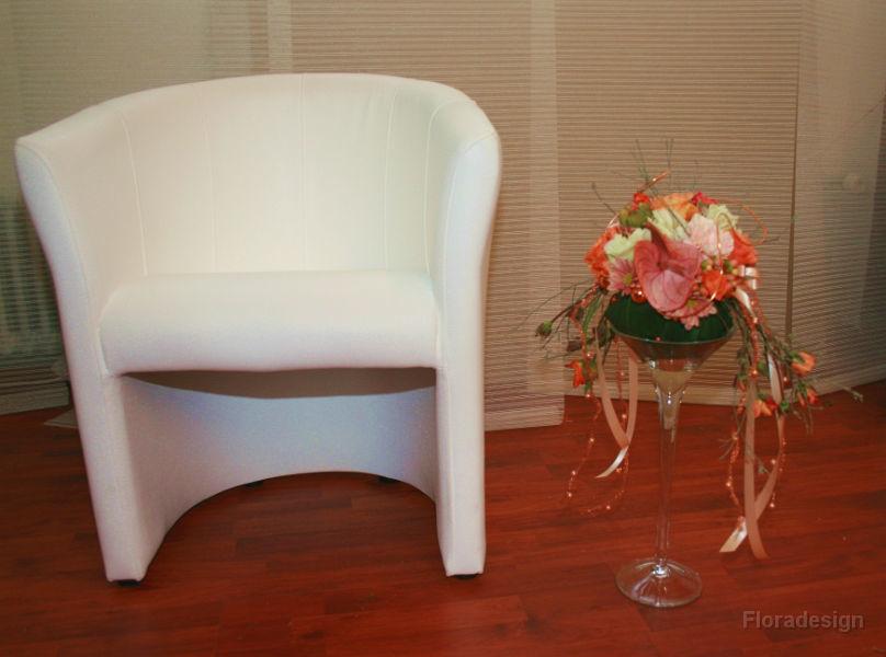 Beispiel: Raumdekoration, Foto: Floradesign.