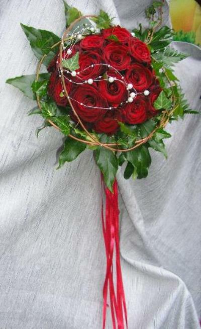 Beispiel: Wunderschöner Brautstrauß, Foto: Antjes Floristik Atelier.