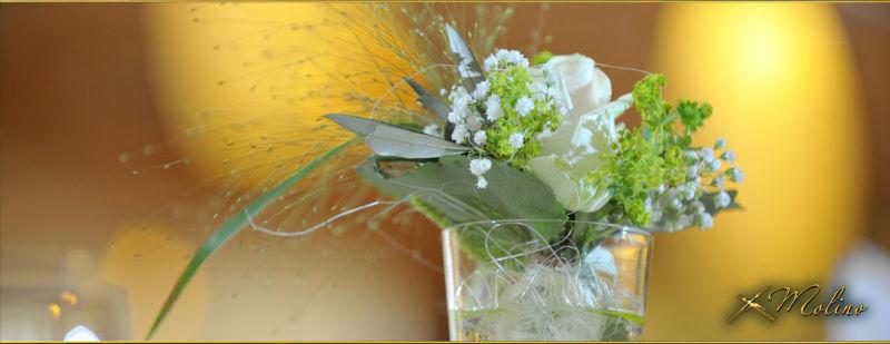 Beispiel: Blumenschmuck, Foto: Molino.
