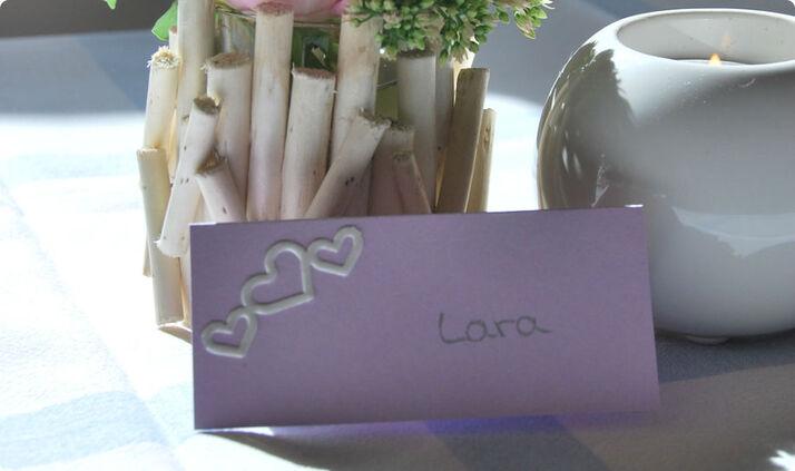 Beispiel: Tischkarte, Foto: Cardlove.de.