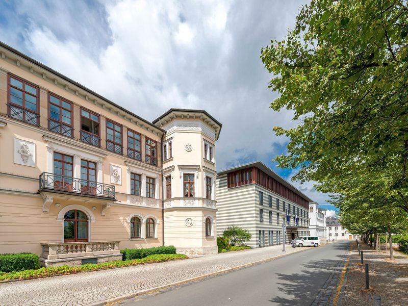 Beispiel: Außenansicht, Foto: Dorint am Goethepark Weimar.