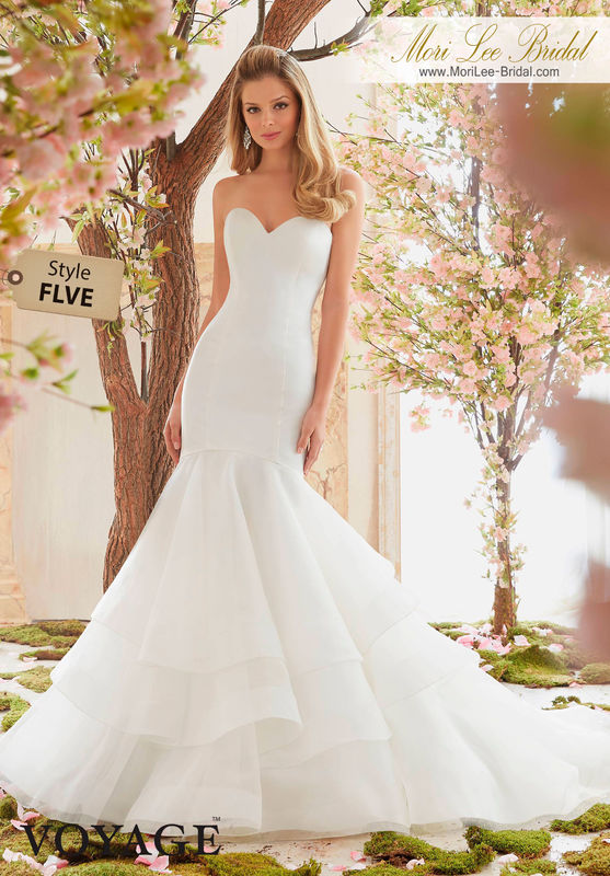 Dress Style FLVE  DUCHESS SATIN AND ORGANZA  Available in Three Lengths: 55