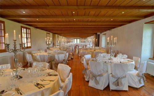Beispiel: Hochzeitssaal, Foto: Wasserschloss Wyher.
