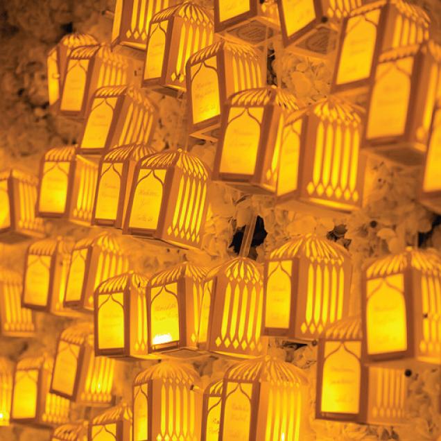 Ambientación Iluminación Jardín Boda Nocturna