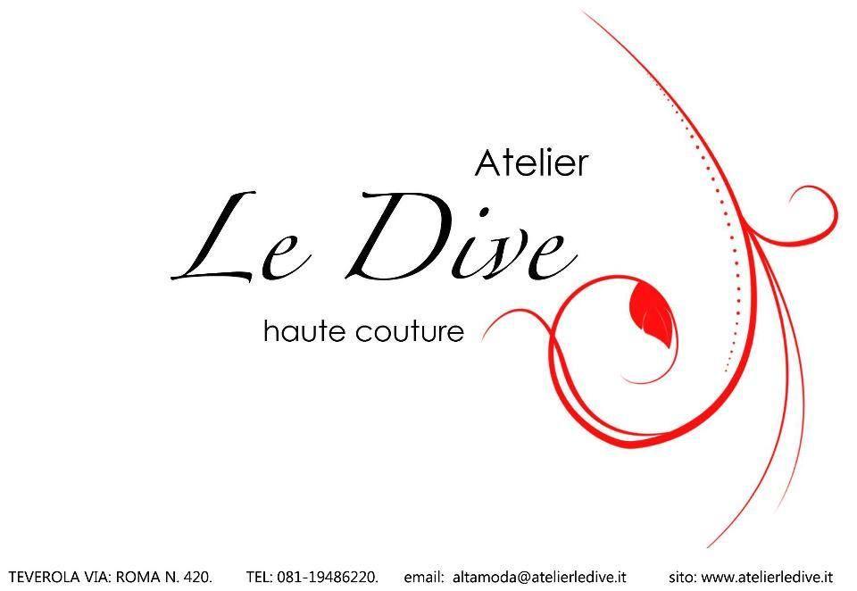 LOGO ATELIER LE DIVE haute couture TEVEROLA VIA ROMA 420 081-5034513 www.atelierledive.it