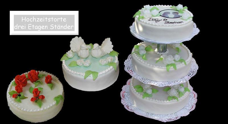 Beispiel: Traumhafte Torten für Ihre Hochzeit, Foto: Partytorten.ch.
