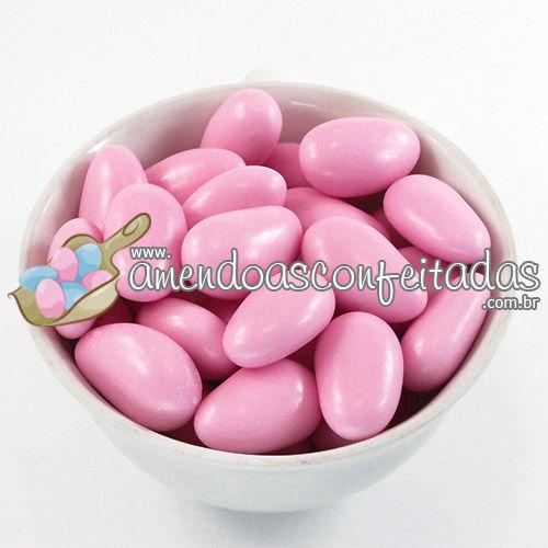 Amêndoas Confeitadas Rosa Supreme - Ideal para decoração de doces e mesas temáticas.