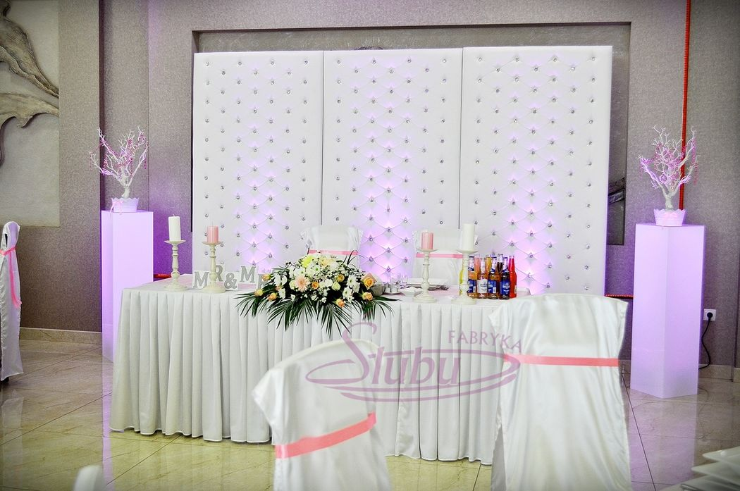 Dekoracja sali weselnej www.fabrykaslubu.pl