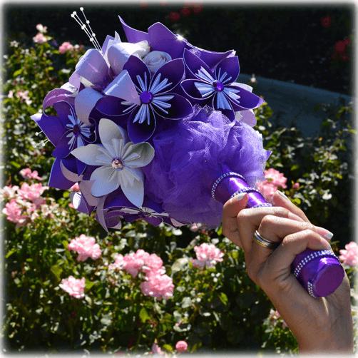 Detalle del Ramo de novia Sweet Purple