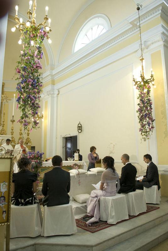 Composizioni a cascata in chiesa