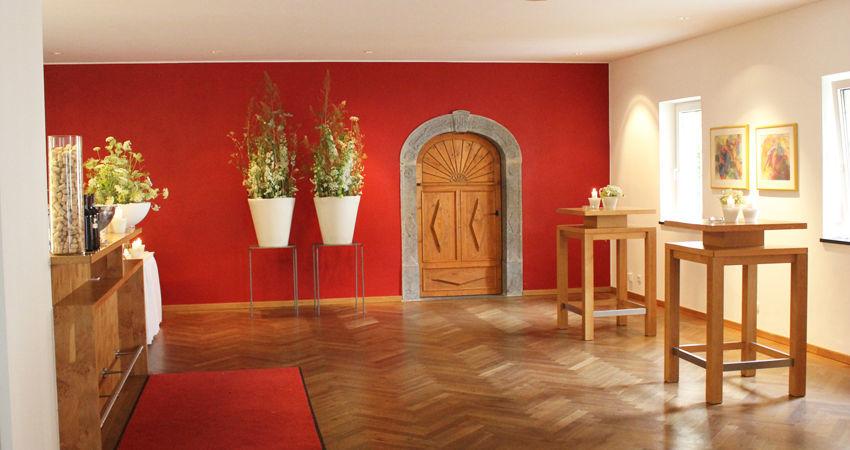 Beispiel: Foyer, Foto: Eventbauernhof Ganglbauergut.