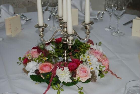 Beispiel: Tischschmuck, Foto: manufactura florale.