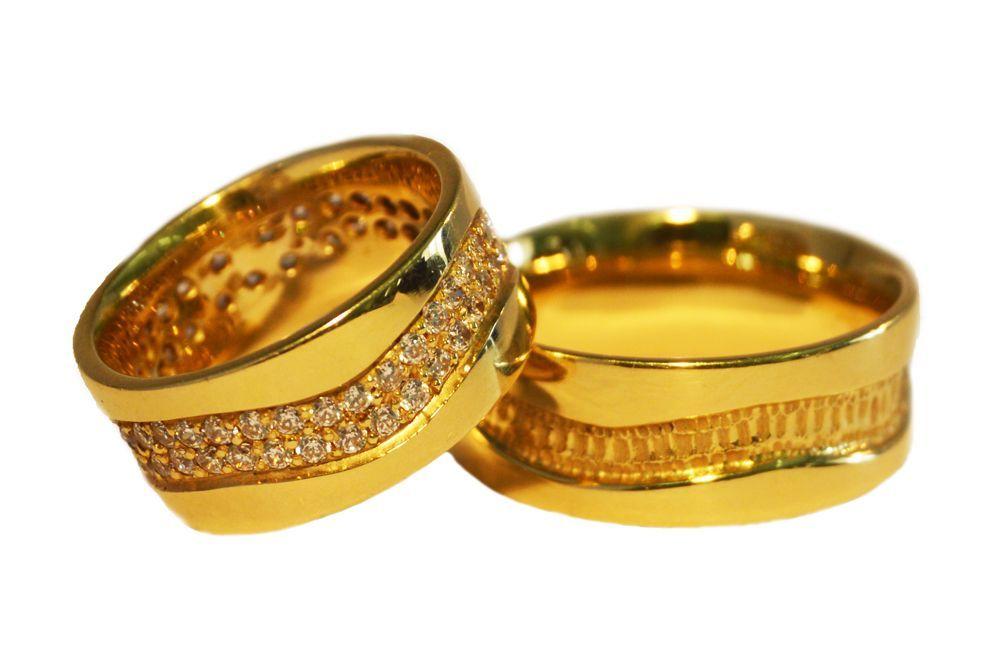 Alianças Casamento Ouro Amarelo ALC70