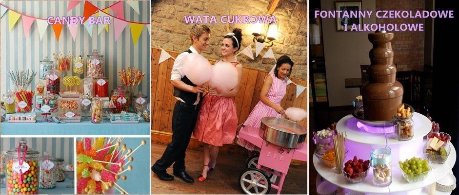 Candy Bar , fontanna czekoladowa wata cukrowa słodkości na Twoim przyjęciu :)