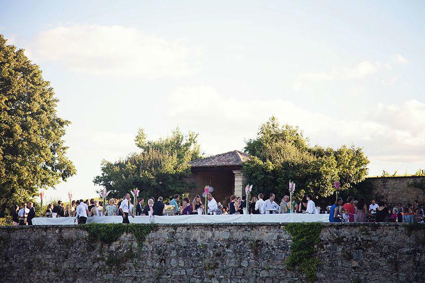 Vin d'honneur sur la terrasse sud du Château