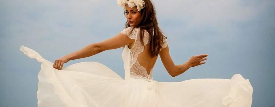 Robe de mariée longue Marie Laporte