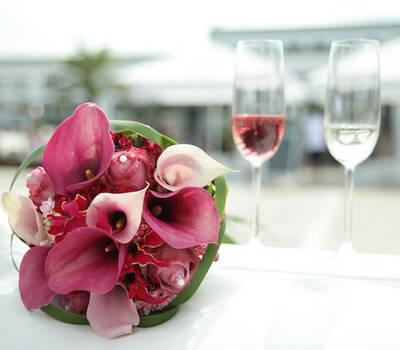 Beispiel: Der Strauß für Ihre Hochzeit, Foto: Elements - Floristik.