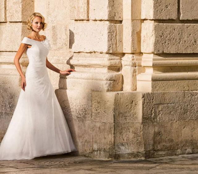 Beispiel: Brautmode - Marylise, Foto: Brauthaus am Dom.