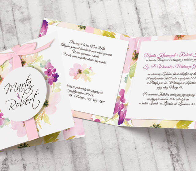 Zaproszenia ślubne - Wiśnia Premium | Moje zaproszenia