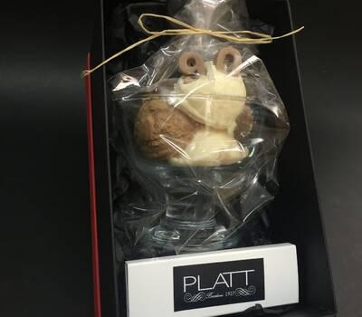 Caja regalo, helado de cera perfumada, un detalle para las personas especiales. personalizando la copa con numeros o letras