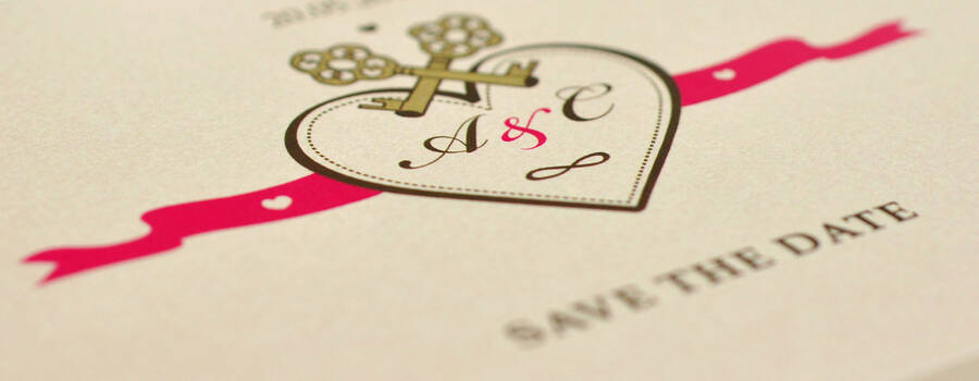 Beispiel: Save-the-date (Royales Design), Foto: Annette Bleichert {GrafikNEST}.