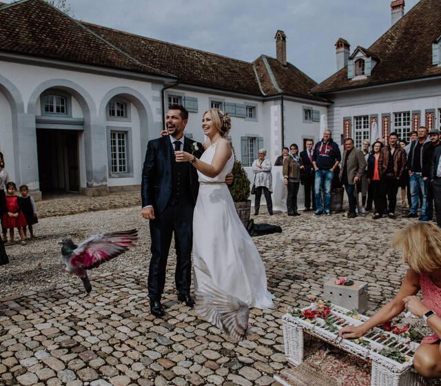 Hochzeit Angela & Michel, Schloss Thunstetten & Golfrestaurant Wylihof