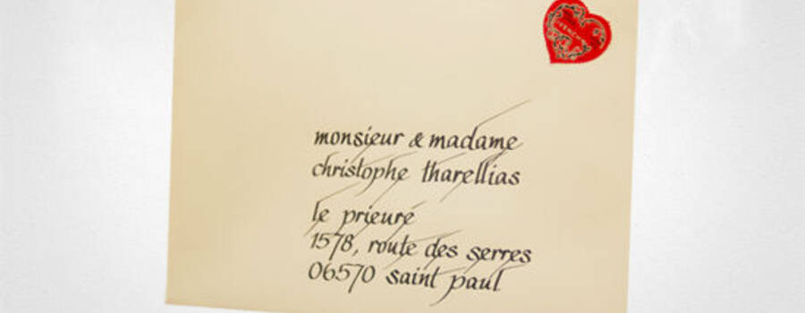 Beispiel: Persönliche Briefumschläge, Foto: Event Calligraphy.