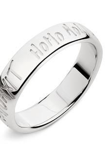 Lanfossi Gioielli - Fede Eternity in oro bianco 18 k altezza 5 mm