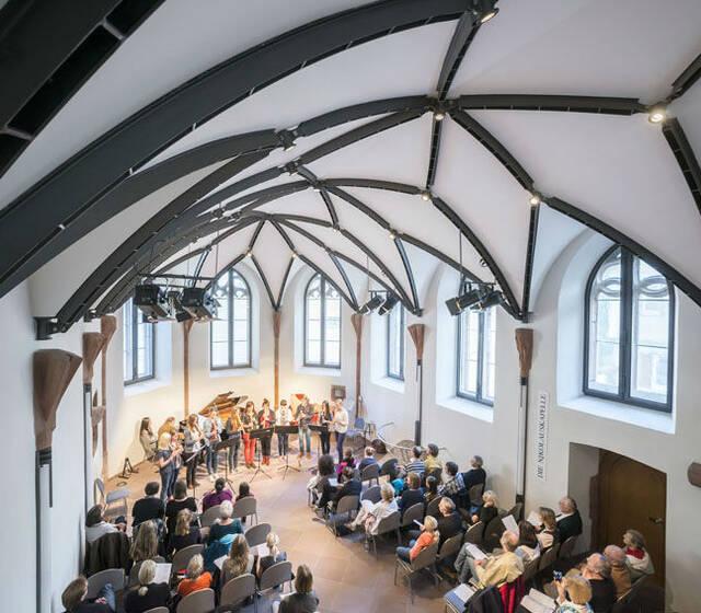 Beispiel: Eindruck von den Räumlichkeiten, Foto: Die Nikolauskapelle.