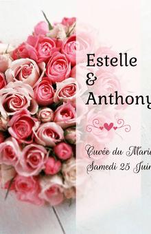 Étiquettes personnalisées modèle roses