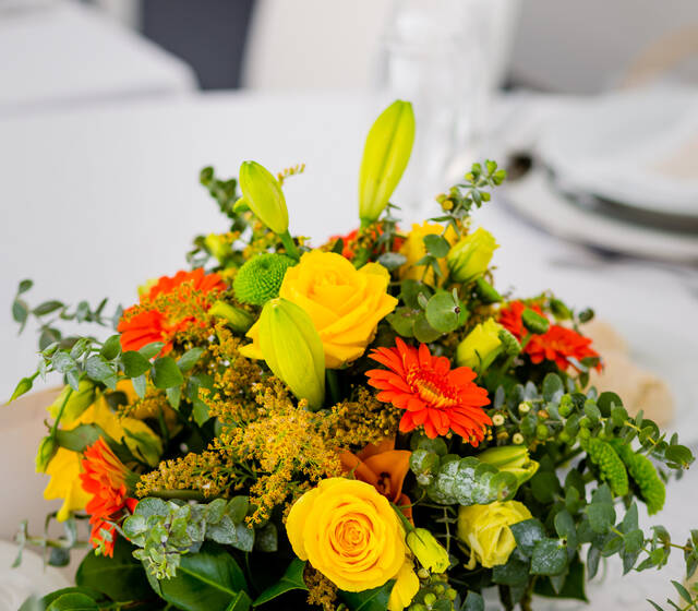 Warm colors wedding decoration
