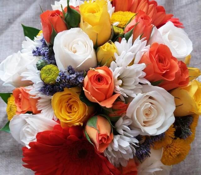 Bouquet de flores primaverales
