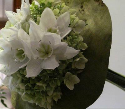 Beispiel: Brautstrauß, Foto: Blumen Hahn.
