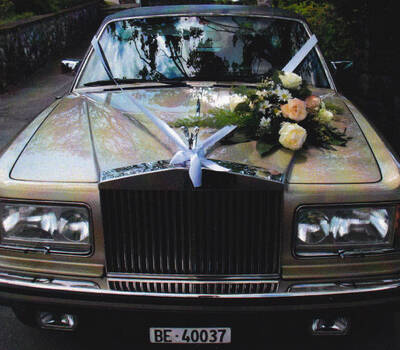 Beispiel: Mit dem Rolls Royce zum Standesamt, Foto: Roger's Limousinenservice.
