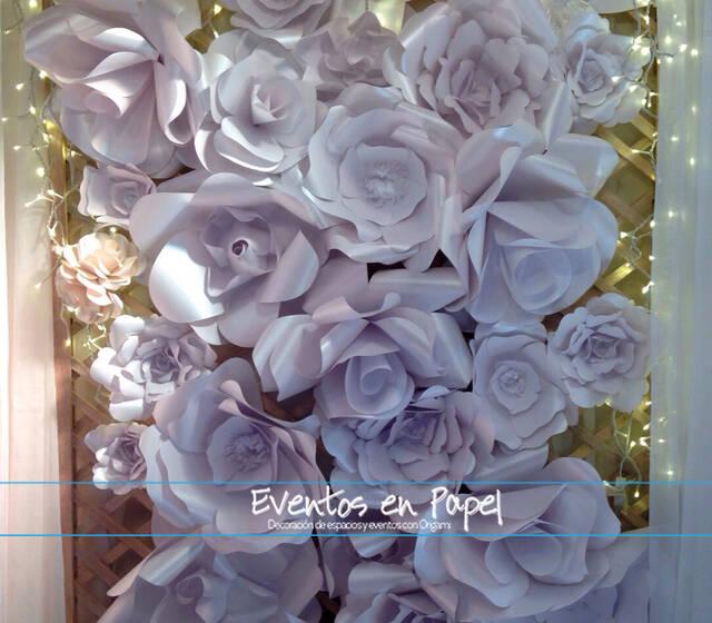 Backdrop de flores gigantes