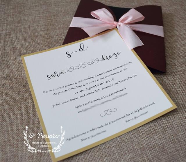 Convites personalizados por O Pereiro - atelier de casamentos e batizados