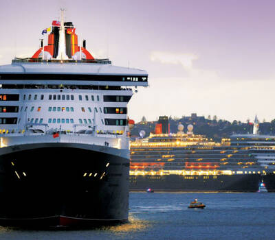 Beispiel: Kreuzfahrtschiffe, Foto: Cunard Line.