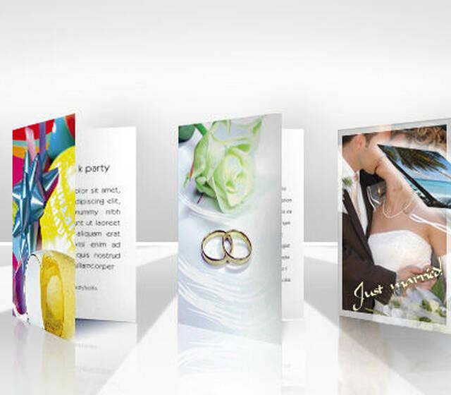 Beispiel: Einladungskarten, Foto: Logiprint.