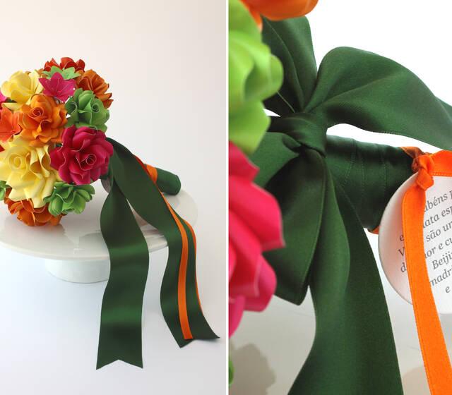 Bouquet de flores em papel