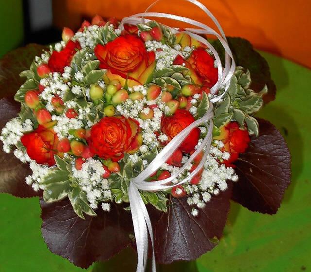 Beispiel: Brautstrauß, Foto: Tanja´s Blumenstube.