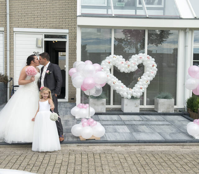 Trouwen met ballonnen en decoratie in Zaandam