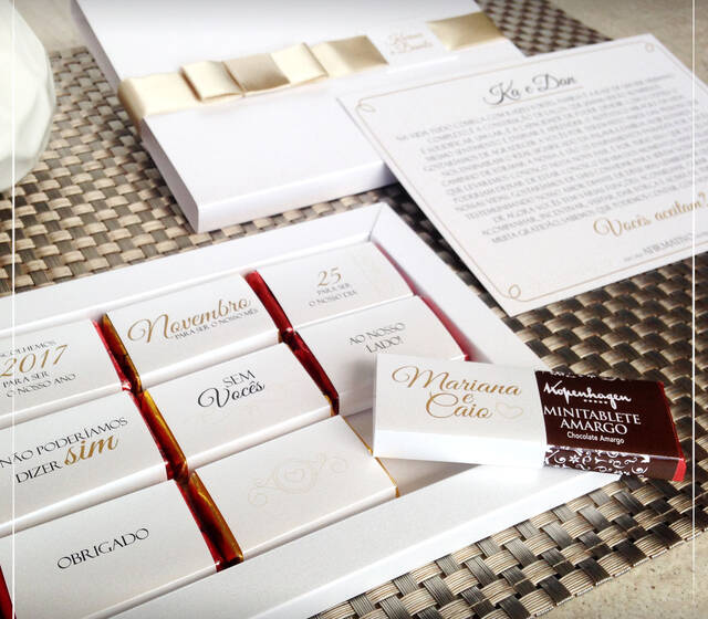 Convite Padrinhos | Giselle Branco