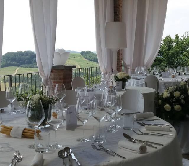 La Madernassa Resort - tavoli terrazza banchetto nuziale
