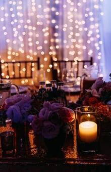 stylowa dekoracja stołu pary młodej